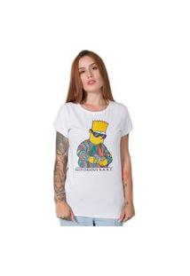 Camiseta Stoned Notorious Bart Branca