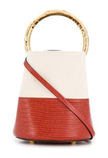 Marni Bolsa Bucket Pannier Bicolor - Vermelho