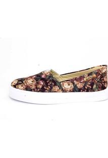 Tênis Slip On Quality Shoes Feminino 002 Floral 35