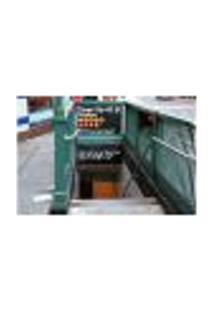 Painel Adesivo De Parede - Nova Iorque - Metrô - 713Pnp