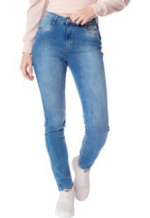 Calça Jeans Feminina Max Denim Justa Azul - 38