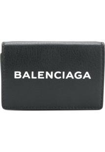 Balenciaga Carteira 'Bal Everyday' De Couro - Preto