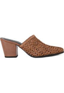 Amaro Feminino Ankle Boot De Tresse, Caramelo