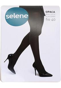 Meia Calça Selene Opaca Fio 40 Feminina - Feminino-Branco