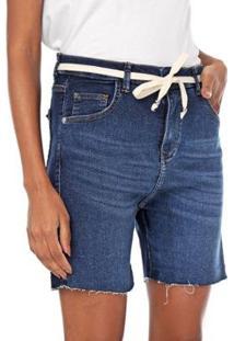 Bermuda Jogger Malha Jeans Feminina - Feminino