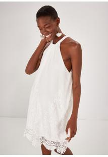 Vestido Curto Bordado Yorio Boutique Branco