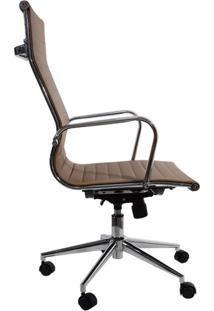 Cadeira Presidente Charles Eames Esteira Alta - Cor Caramelo