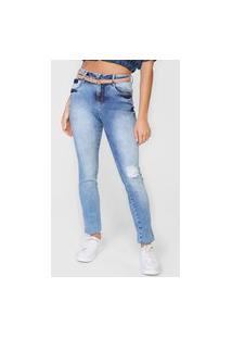 Calça Jeans Morena Rosa Skinny Andreia Azul