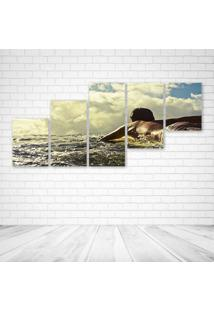 Quadro Decorativo - Surf Life - Composto De 5 Quadros - Multicolorido - Dafiti
