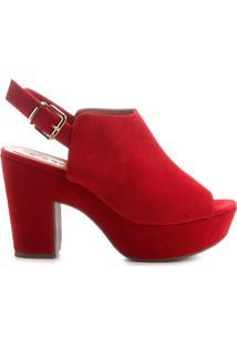 Sandália Feminina Bebecê Open Boot Vermelha Vermelho - 34