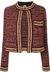 M Missoni Cropped Tweed Jacket - Preto