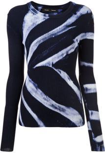 Proenza Schouler Blusa De Tricô Tie Dye - Azul