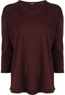 Aspesi Suéter Com Modelagem Ampla - Marrom