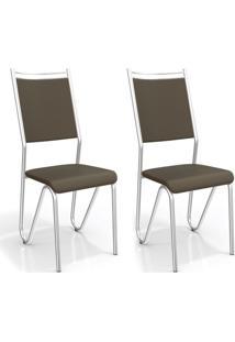 Conjunto 2 Cadeiras Londres Marrom