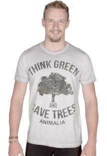 Camiseta Animalia Lavagem Diferenciada Cinza