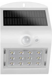 Arandela Solar Led 15W Sensor De Movimento Branca Demi