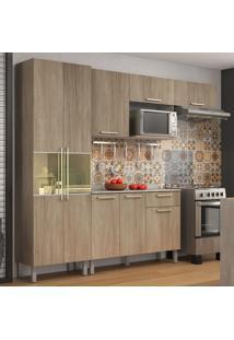Cozinha Completa Com Balcão 8 Portas Star Aveiro Oak- Itatiaia