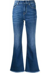 Jacob Cohen Calça Jeans Flare Com Cintura Alta - Azul