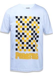 Camiseta New Era Regular Pittsburgh Pirates Branco