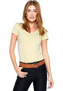 Camiseta Aleatory Gola V Amarela