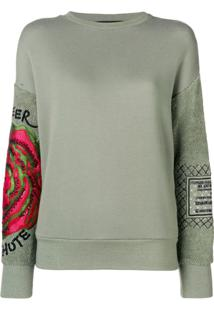 Mr & Mrs Italy Blusa De Moletom Com Bordado - Verde