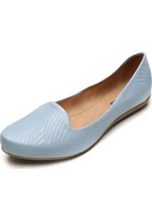 Sapatilha Couro Bottero Textura Azul