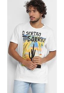 """Camiseta Coca-Cola Com Estampa """"O Sertão Sorriu"""" Masculina - Masculino"""