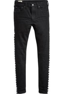 Calça Jeans Levis 512 Slim Taper Masculina - Masculino-Preto