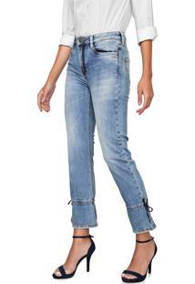 Calça Jeans Carmim Bootcut Cropped Liverpool Azul