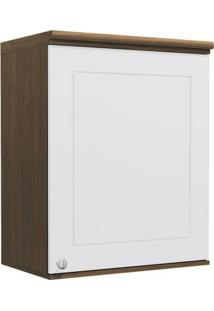 Armário De Cozinha Aéreo Kappesberg G622 1 Porta Jacaranda Com Branco