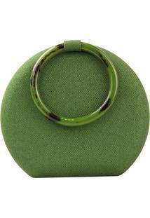 Clutch Crisfael Acessórios Sintético Verde