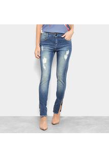 2ee2f8600 Calça Jeans Morena Rosa Skinny Andreia Tachas Feminina - Feminino-Única