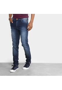 Calça Jeans Cavalera Masculina - Masculino-Azul