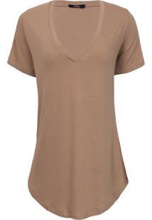 T-Shirt Rineli - Capuccino - Marrom - Feminino - Dafiti
