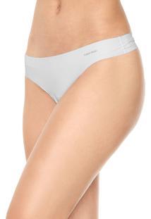 Calcinha Calvin Klein Underwear Tanga Logo Branca