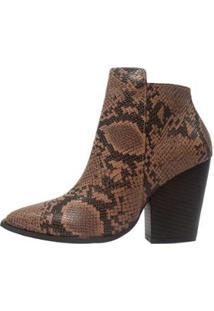Bota Serena Damannu Shoes Feminina - Feminino-Marrom+Preto
