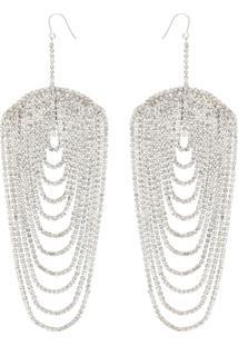 Area Embellished Drop Earrings - Metálico