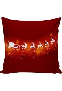 Capa Para Almofada Papai Noel- Vermelho Escuro & Branca