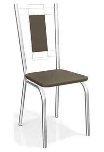 Cadeira Kappesberg Florença 4C005 (4 Uni) Cromado/Marrom