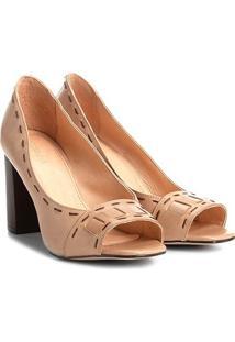 8c7ec5b92 Peep Toe Conforto Salto Alto feminino. Peep Toe Couro Shoestock ...