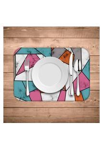 Jogo Americano Wevans Marble Texture Color Kit Com 4 Pçs