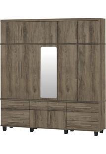 Guarda-Roupa Triplex Gávea 5 Portas Com Espelho Teka Trinobél Móveis