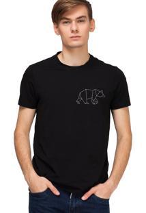 Camiseta Masculina Joss Urso Preto
