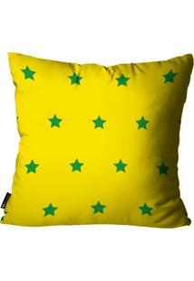 Capa Para Almofada Mdecore Estrela Brasil Colorida 45X45Cm
