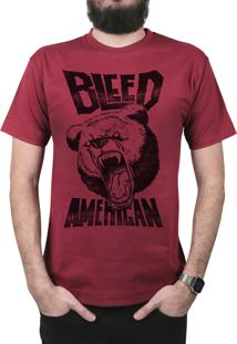 Camiseta Bleed American Killer Bear Vinho