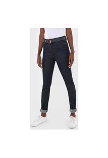 Calça Jeans Hering Skinny Lisa Azul-Marinho