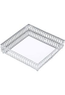 Bandeja Decorativa Mirror Prateada 3,5X17X17