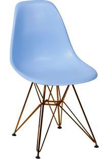 Cadeira Com Base Em Cobre 1102-Or Design - Azul Claro