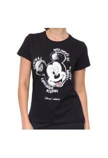 Camiseta Estampada Preta Disney Colcci 034.57.00281.