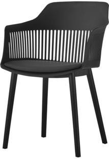 Cadeira Leslie Polipropileno Preta - 58280 - Sun House